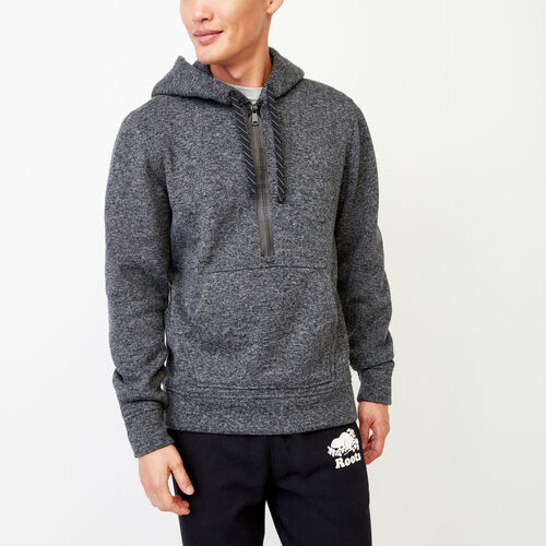 Roots-Men Categories-Alaska Half Zip Sweatshirt-Charcoal Mix-A