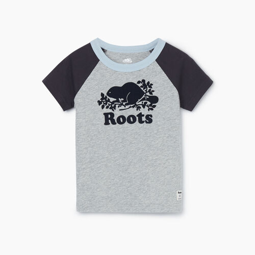 Roots-Kids New Arrivals-Toddler Cooper Baseball T-shirt-Grey Mix-A