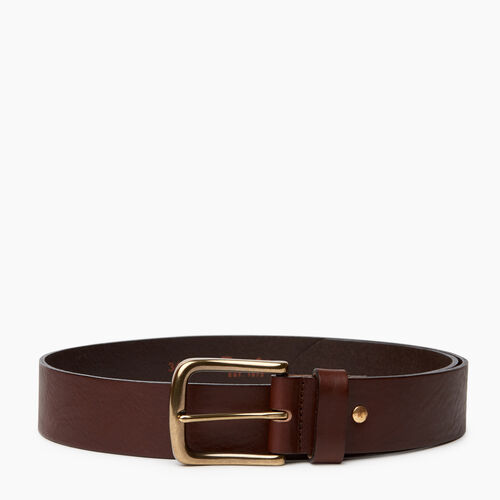 Roots-Men Categories-Roots Mens Leather Jean Belt-Brown-A