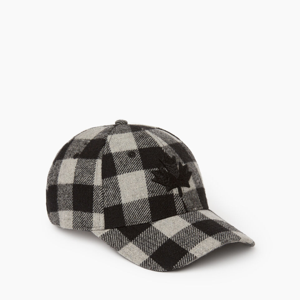 Roots-New For December Today Only: 40% Off Park Plaid Collection-Park Plaid Leaf Baseball Cap-Grey Mix-A