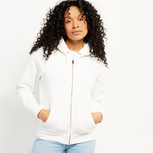 Roots-Sweats Women-Original Full Zip Hoody-Cannoli Cream-A