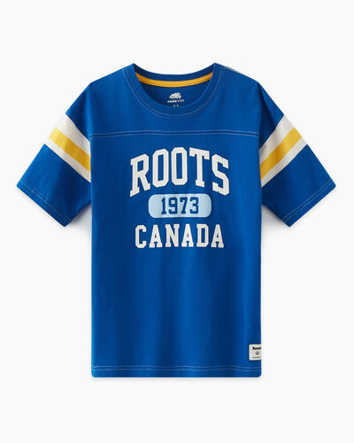 Roots-Kids T-shirts-Boys Home Team T-shirt-Classic Blue-A