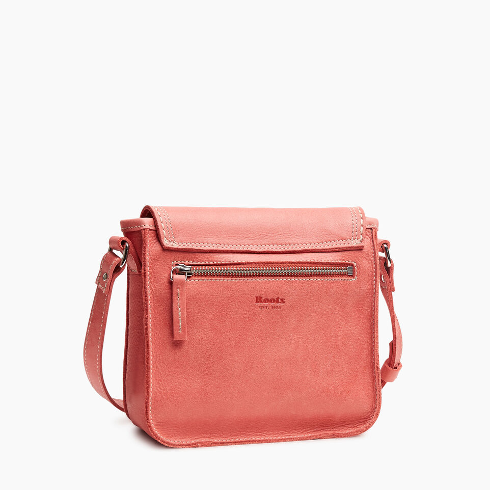 Roots-Leather New Arrivals-Canmore Crossbody Tribe-Coral-C