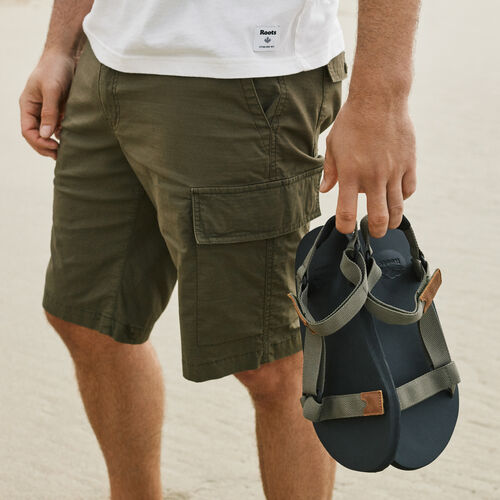Roots-Men Shorts-Essential Cargo Short-Fatigue-A