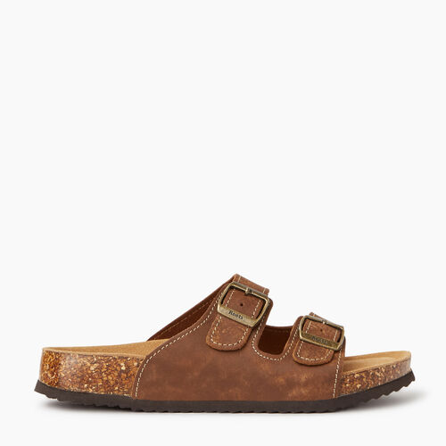 Roots-Footwear Categories-Womens Natural 2 Strap Sandal-Natural-A