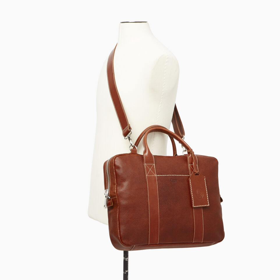 Roots-Leather  Handcrafted By Us Our Favourite New Arrivals-Wellington Laptop Bag Horween-Cognac-B