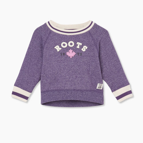 Roots-Sweats Baby-Baby Cabin Cozy Crew Sweatshirt-Loganberry Pepper-A