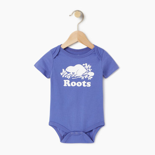 Roots-Kids Our Favourite New Arrivals-Baby Cooper Beaver Bodysuit-Violet Storm-A