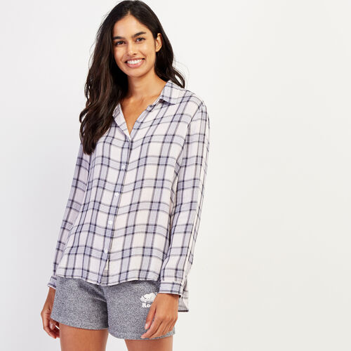 Roots-New For October Plaids-Sachs Plaid Shirt-Rose Smoke-A