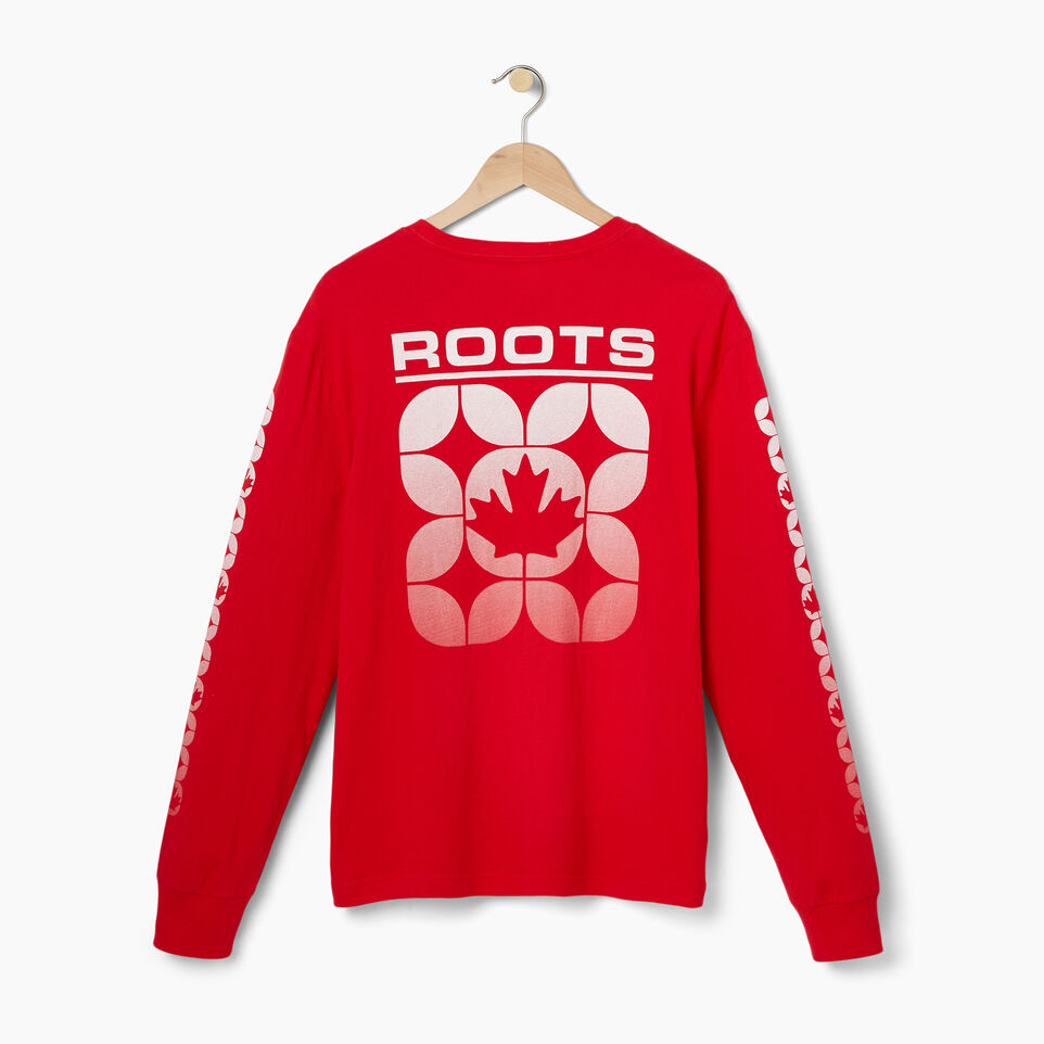 Roots-Men Our Favourite New Arrivals-Mens 73 Sport Long Sleeve T-shirt-Racing Red-B