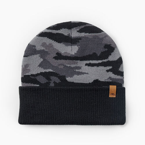 Roots-Men Accessories-Camouflage Toque-Black Camo-A