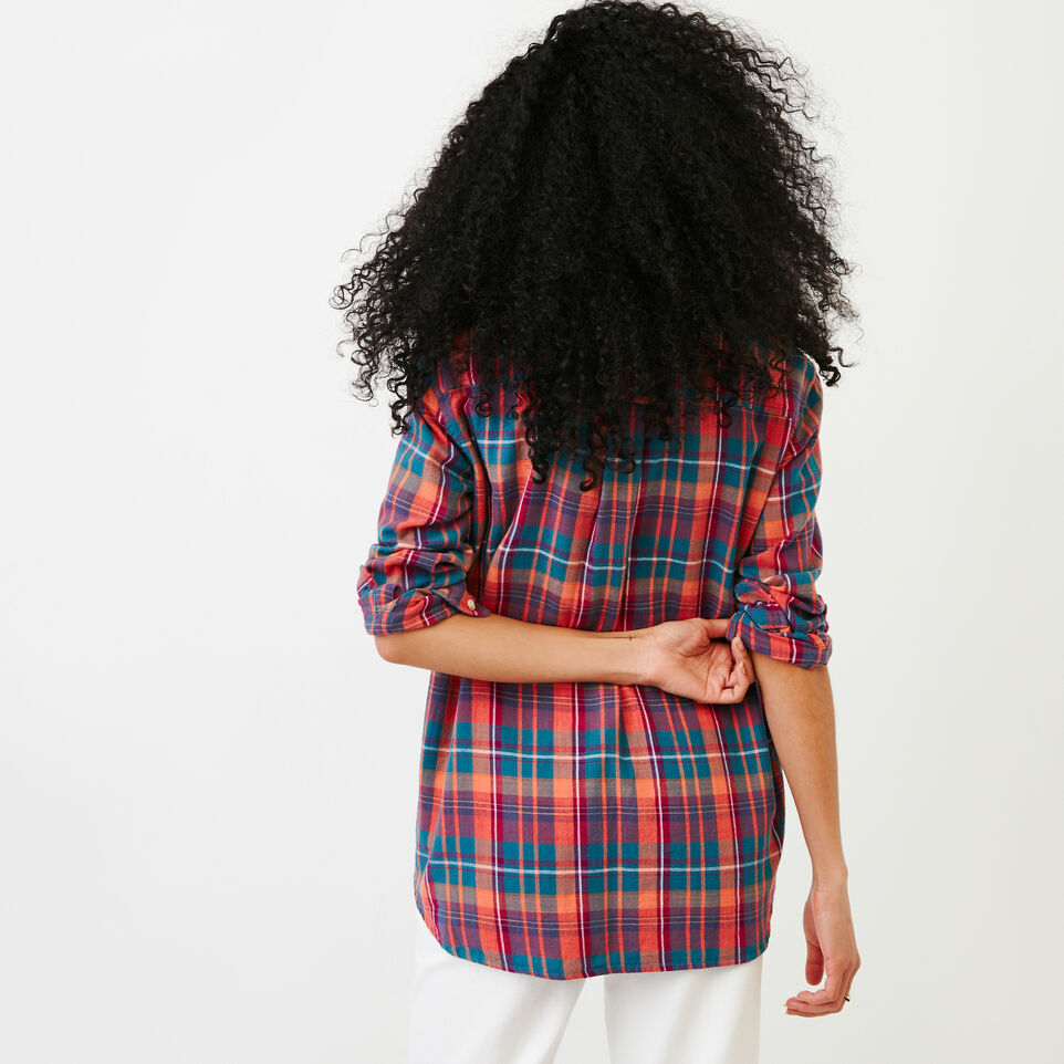 Roots-Women Our Favourite New Arrivals-All Seasons Relaxed Shirt-Spiced Coral-D