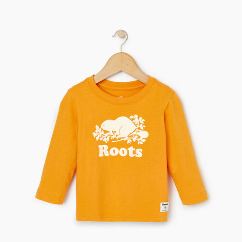 Roots-Kids Our Favourite New Arrivals-Baby Original Cooper Beaver T-shirt-Squash Yellow-A