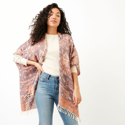 Roots-Women Scarves & Wraps-Boughton Kimono-Multi-A