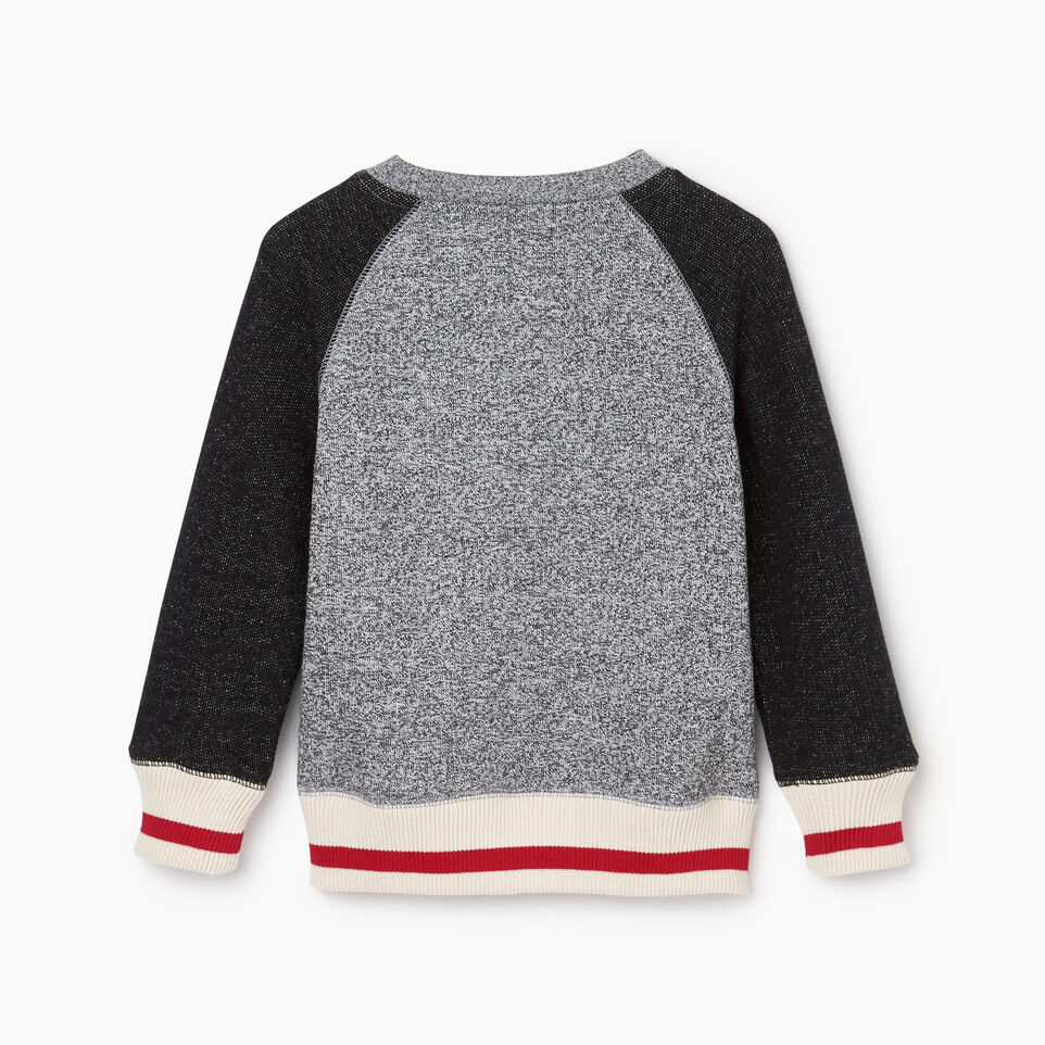 Roots-Kids Tops-Toddler Roots Cabin Crew Sweatshirt-Salt & Pepper-B