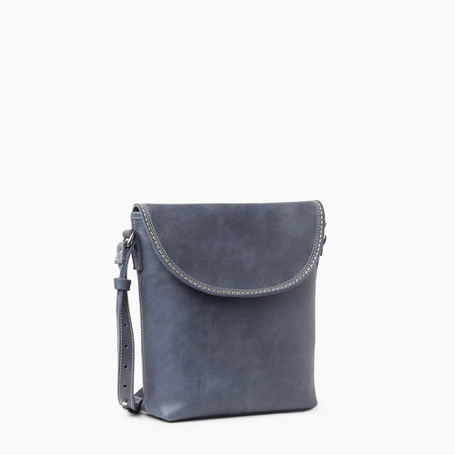 Roots-Leather Crossbody-Canmore Flat Tribe-Navy-A