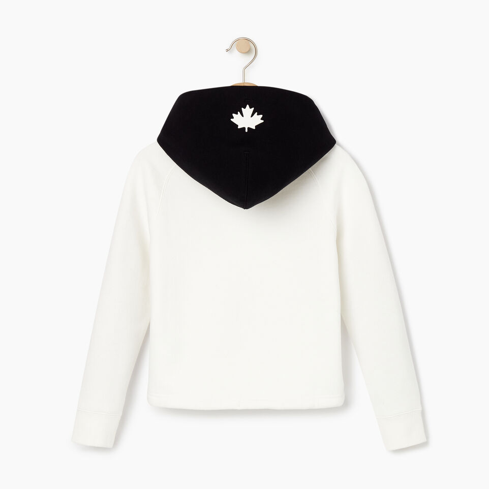 Roots-Kids Our Favourite New Arrivals-Girls 2.0 Colour block Raglan Hoody-Ivory-B