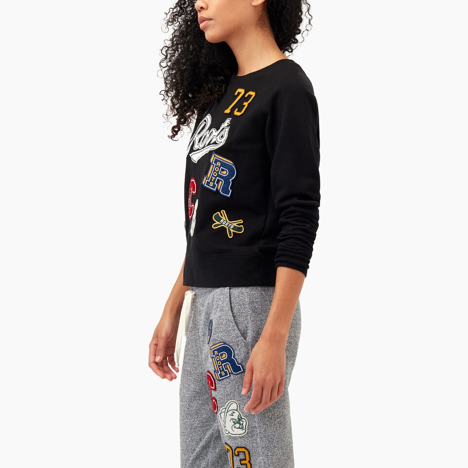 Roots-undefined-Varsity Roots Patches Crew Sweatshirt-undefined-C