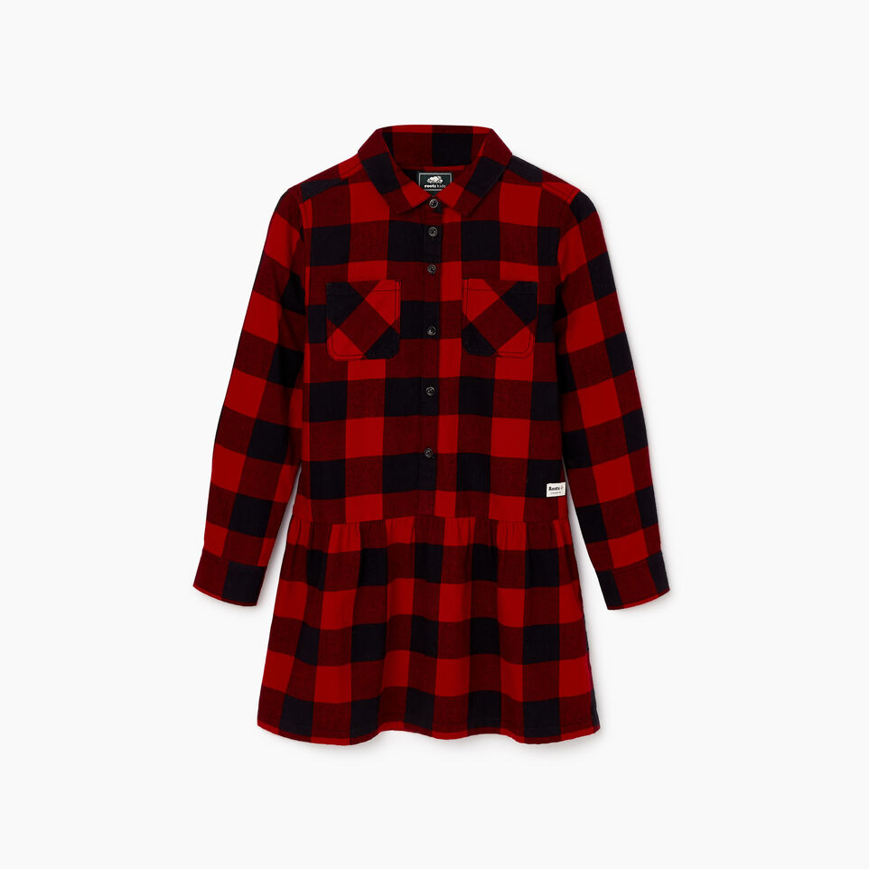 Roots-undefined-Girls Park Plaid Dress-undefined-B