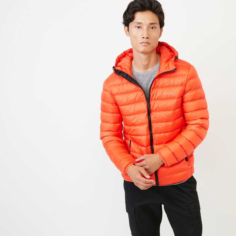 Roots-Men Our Favourite New Arrivals-Roots Packable Down Jacket-Spicy Orange-A