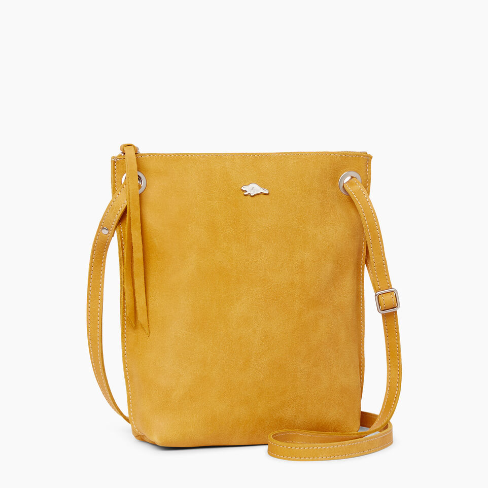 Roots-Leather Handbags-Festival Bag Tribe-Squash Yellow-A