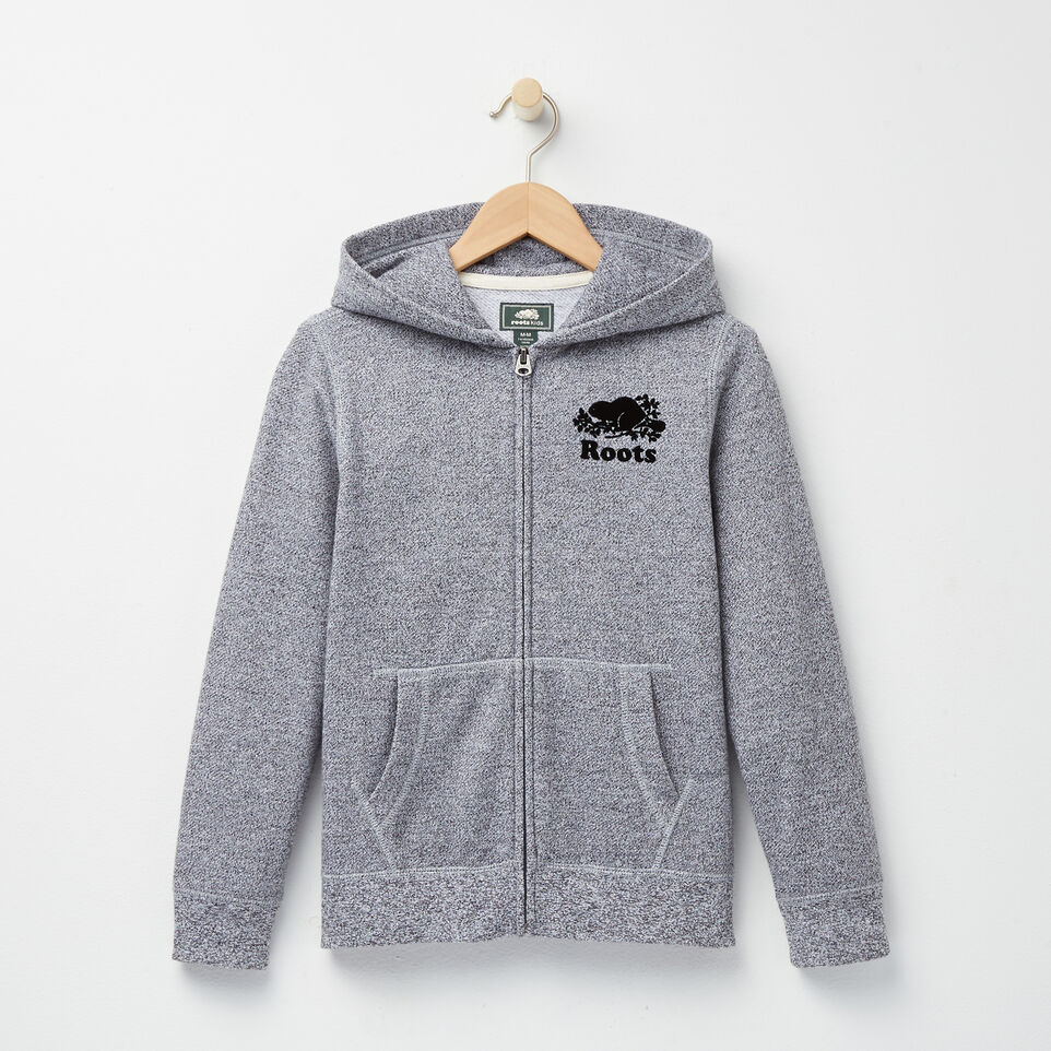 Roots-undefined-Boys Roots Salt and Pepper Original Full Zip Hoody-undefined-A