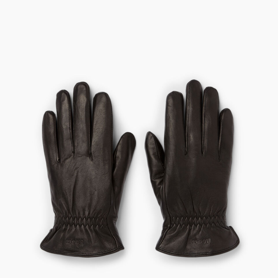 Roots-Women Leather Accessories-Womens Classic Nappa Glove-Black-B