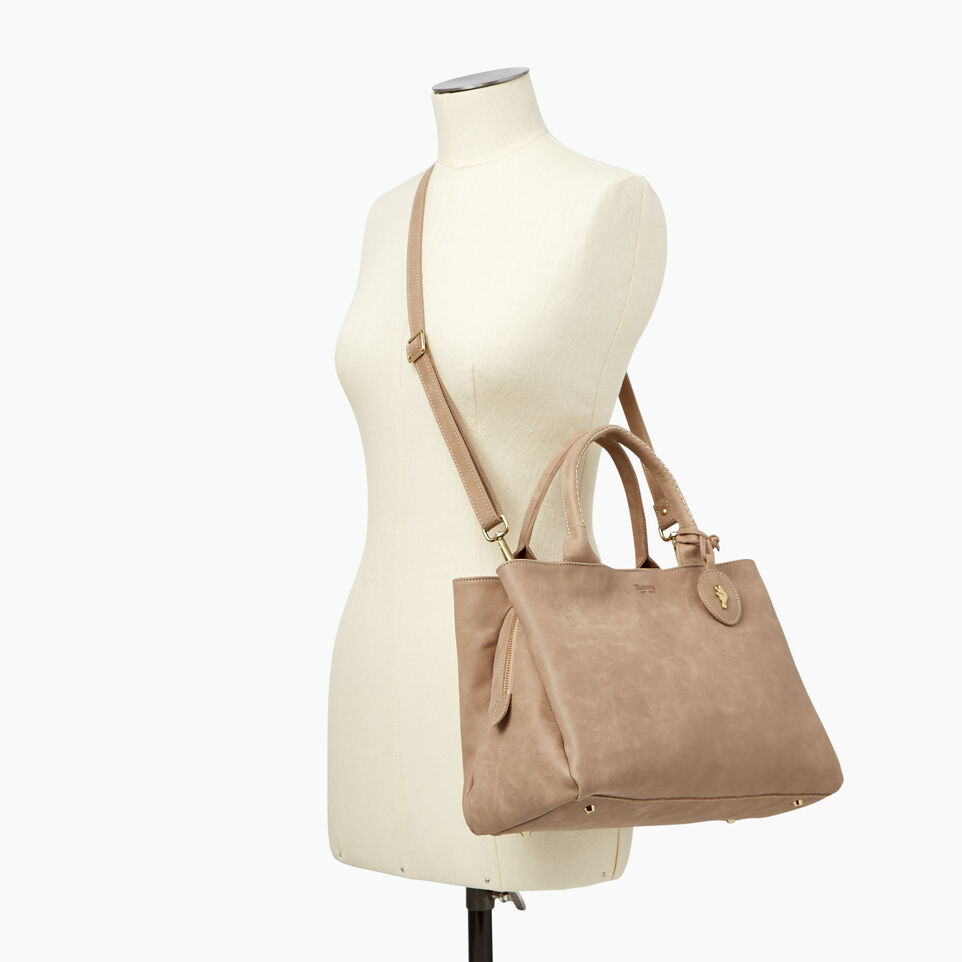 Roots-Leather Categories-Mont Royal Bag-Sand-B