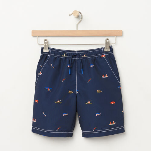 Roots-Sale Kids-Boys Nanaimo Canoe Short-Cascade Blue-A