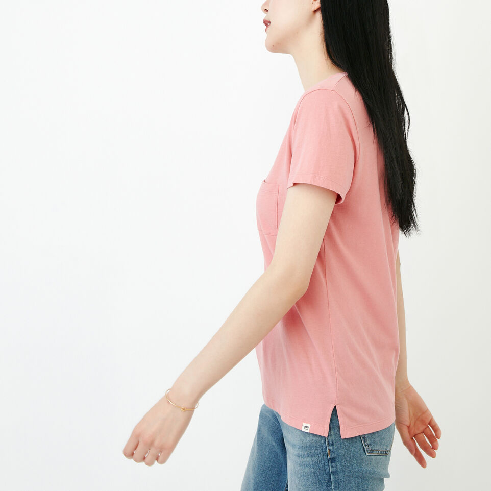 Roots-Women Our Favourite New Arrivals-Essential V T-shirt-Sunset Apricot-C