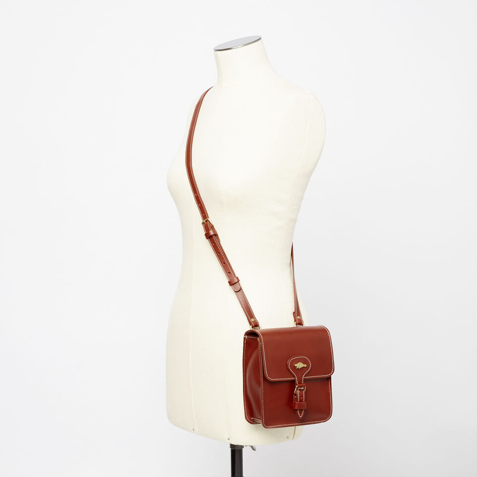 Roots-Leather  Handcrafted By Us Handbags-Money Bag Heritage-Oak-B