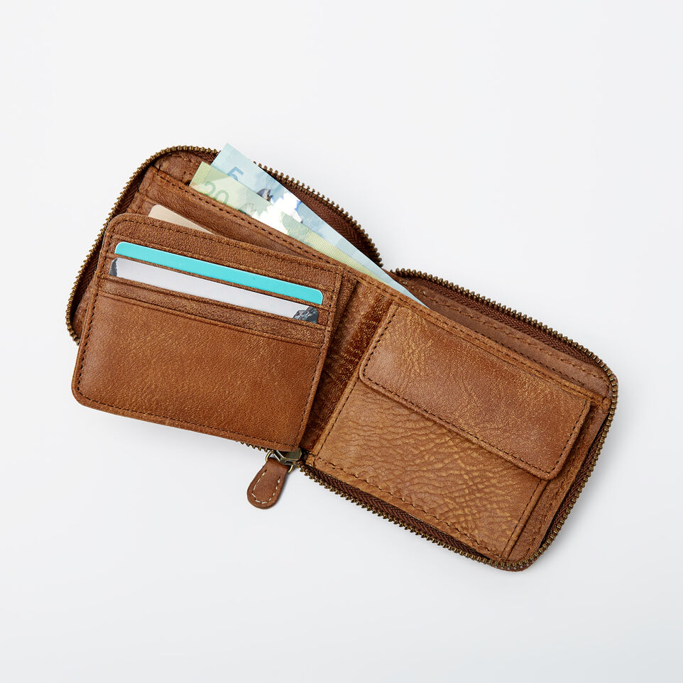 956ad1413734 Mens Zip Around Wallet Tribe. Roots-Leather Handcrafted By Us Wallets-Mens  ...