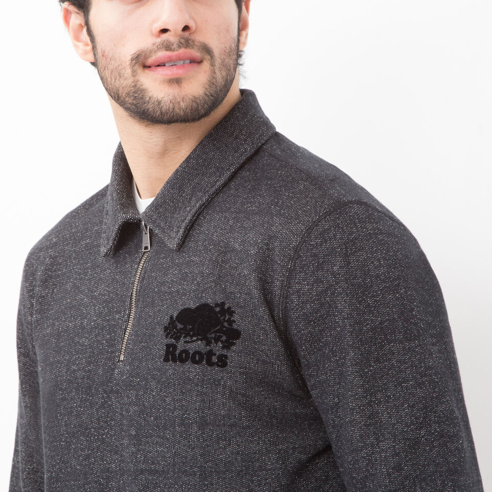 Roots-undefined-Roots Black Pepper Original Zip Polo-undefined-B