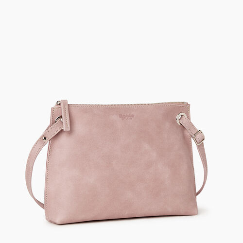 Roots-Leather Crossbody-Edie Bag-Woodrose-A