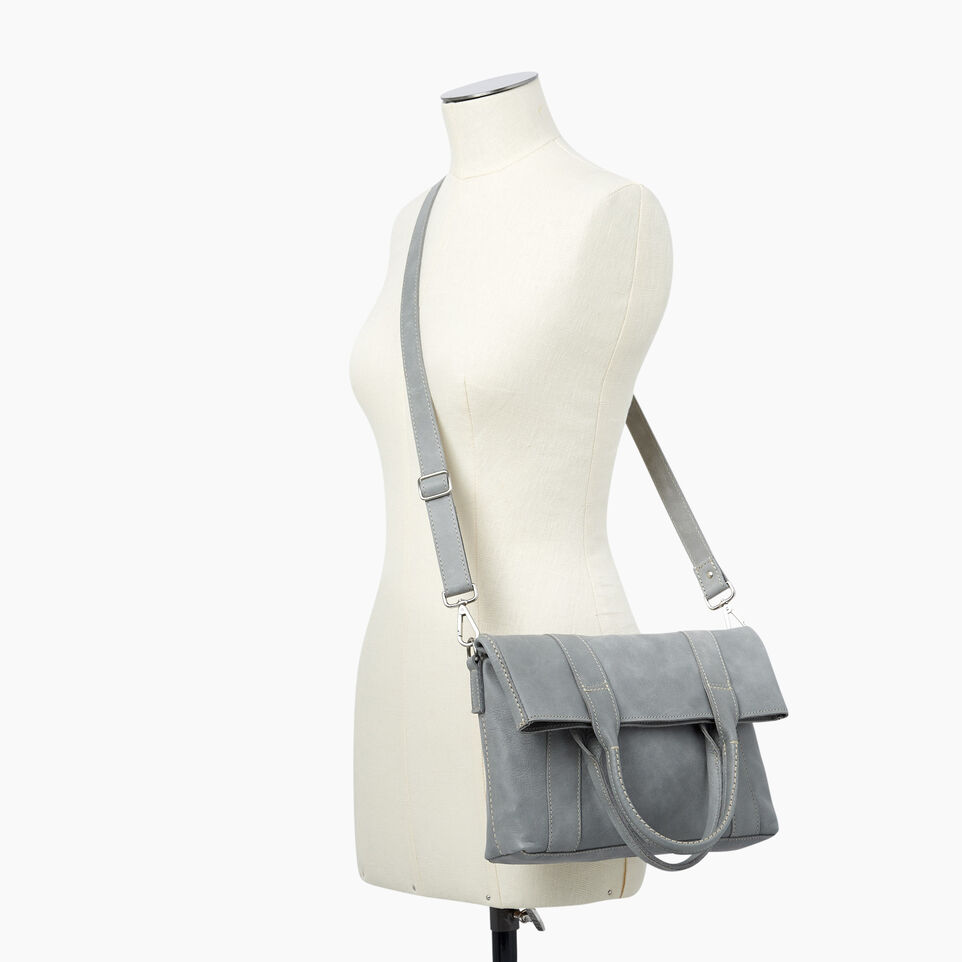 Roots-Leather  Handcrafted By Us Categories-Annex Tote-Quartz-B