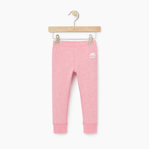 Roots-Kids Bottoms-Toddler Cozy Fleece Legging-Sea Pink Mix-A