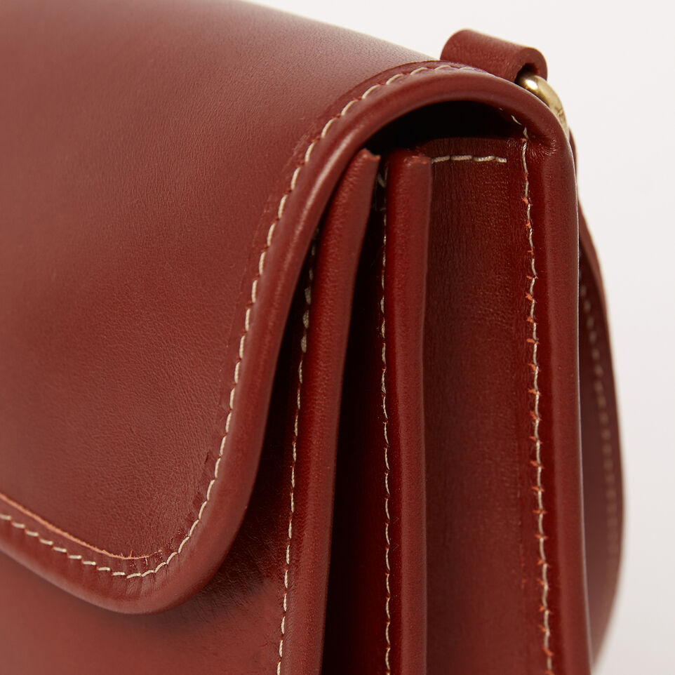 Roots-Winter Sale Leather-Sandys Bag Heritage-Oak-D