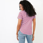 Roots-New For January Women-Aster Stripe Top-Racing Red-D