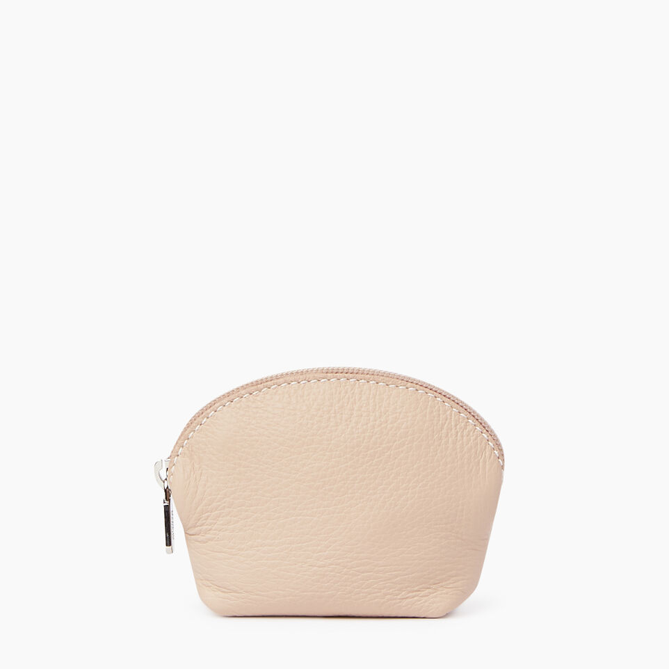 Roots-Clearance Leather-Small Euro Pouch-Pink Mist-A