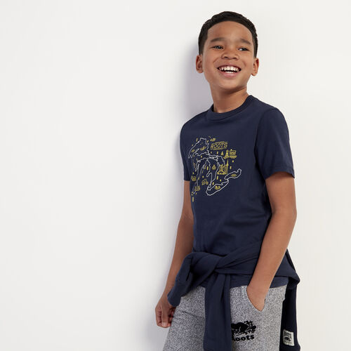 Roots-Kids New Arrivals-Boys Great Lakes T-shirt-Navy Blazer-A