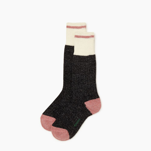 Roots-Gifts Lounge-Womens Roots Cabin Sparkle Sock 2 Pack-Black Mix-A