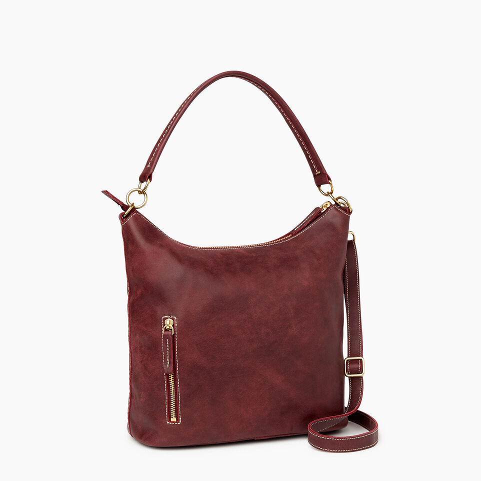 Roots-Leather  Handcrafted By Us Our Favourite New Arrivals-Ella Bag-Crimson-C