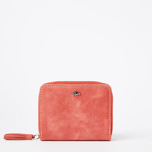 Roots-Leather Wallets-Small Tassel Wallet Tribe-Coral-A