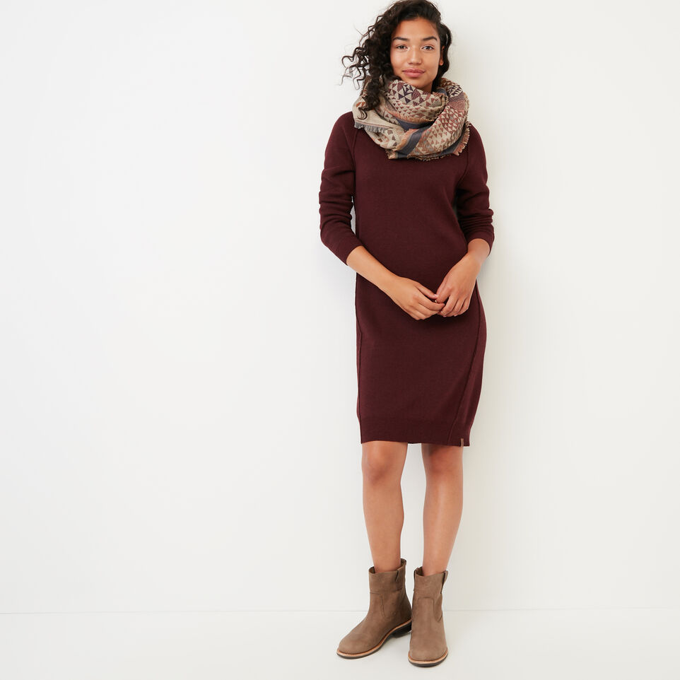 Roots-Women Clothing-Kemano Sweater Dress-Crimson-B