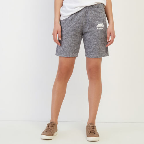 Roots-Women Shorts & Skirts-Original Longer Sweatshort-Salt & Pepper-A