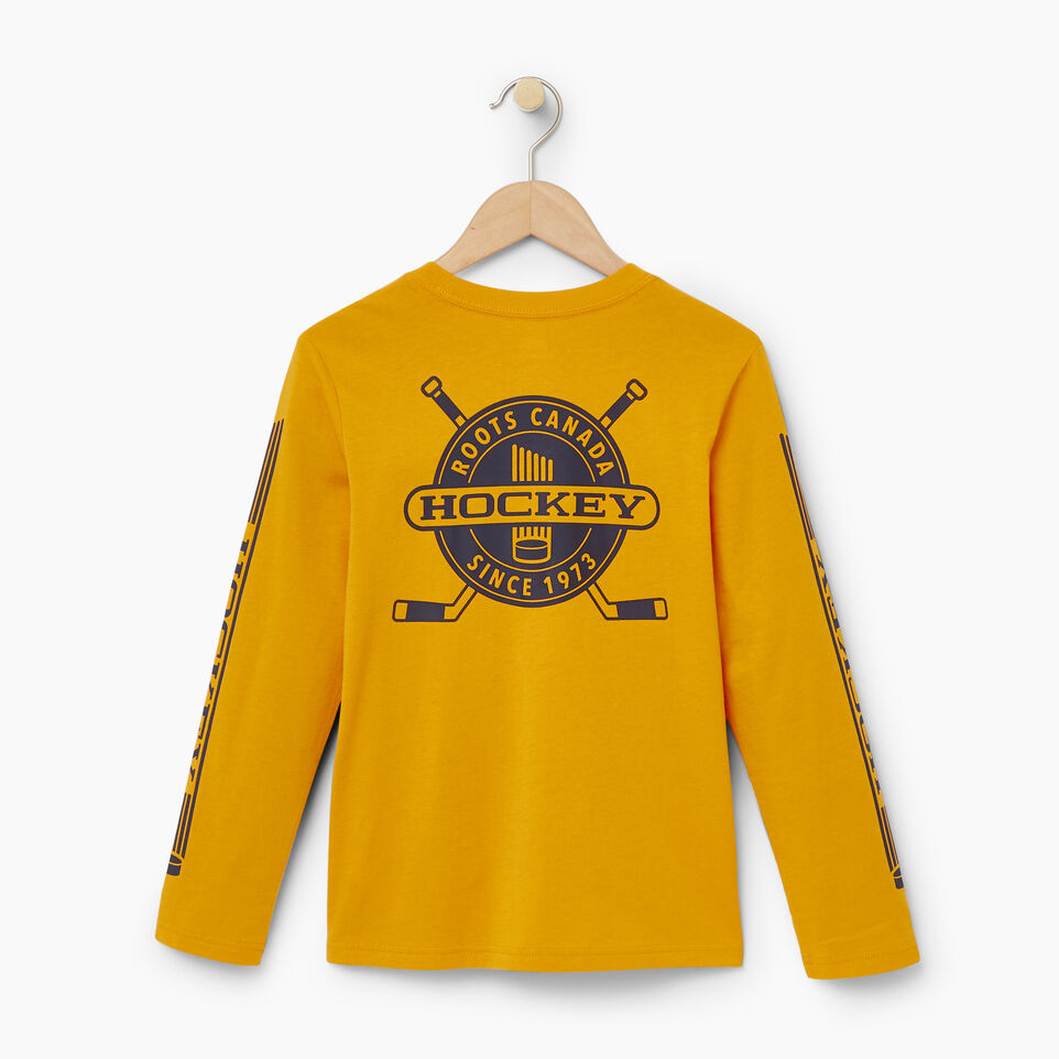 Roots-Kids Our Favourite New Arrivals-Boys Hockey T-shirt-Squash Yellow-B
