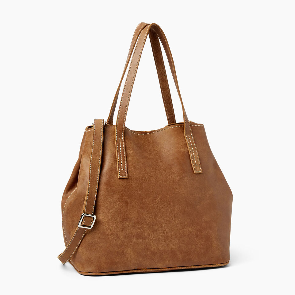 Roots-Leather  Handcrafted By Us Our Favourite New Arrivals-Amelia Tote Tribe-Natural-A