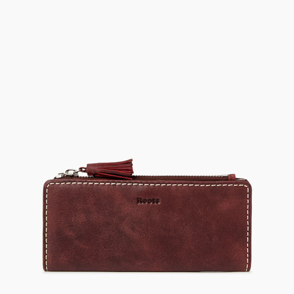 ec846e46db1be Roots Undefined Slim Wallet Tribe A. Slim Wallet Tribe Womens Leather Wallets  Roots