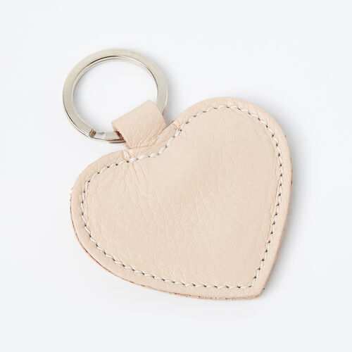 Roots-Leather Small Leather Goods-Heart Key Ring Prince-Blush-A