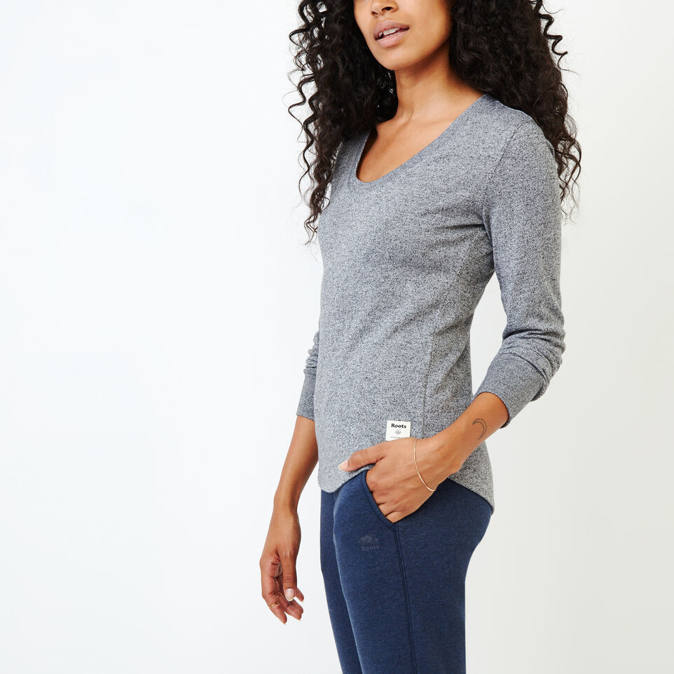 Roots-undefined-Peppered Scoop T-shirt-undefined-C